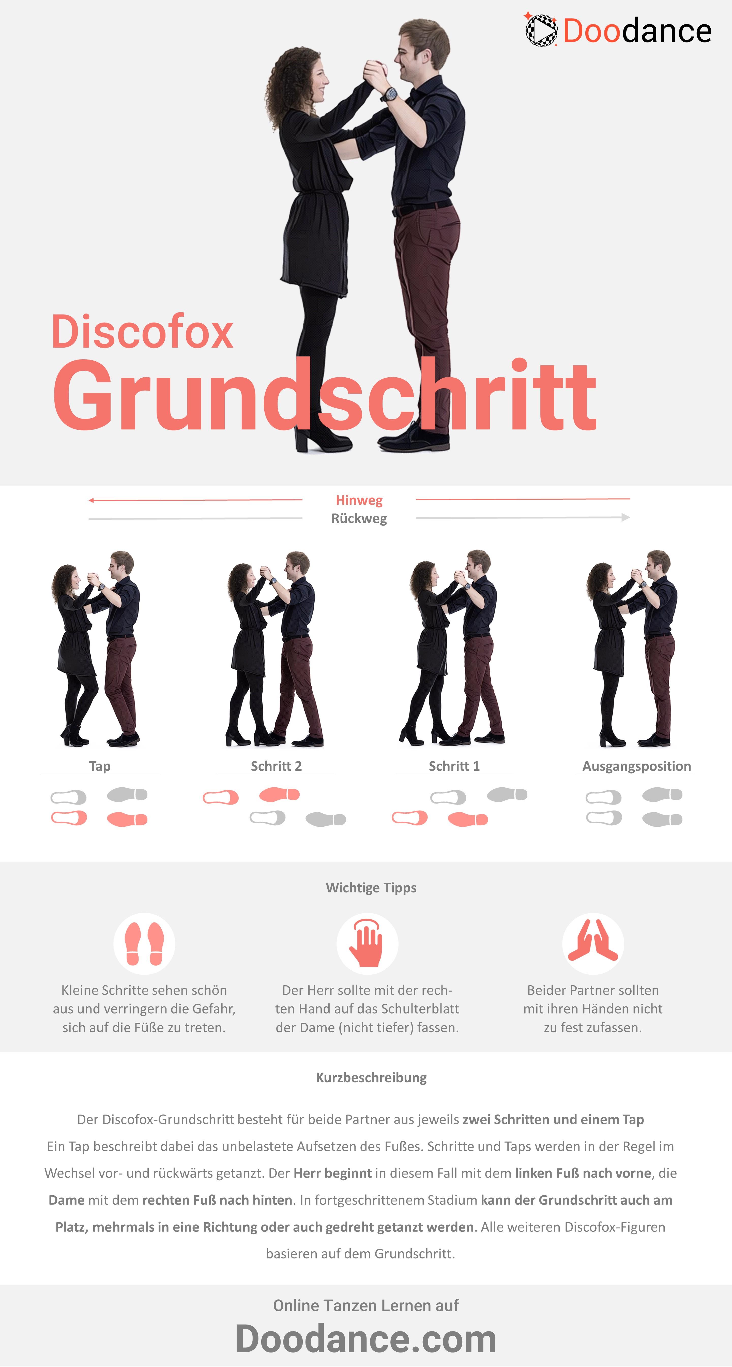 Doodance_Infografik_Discofox_Der Grundschritt