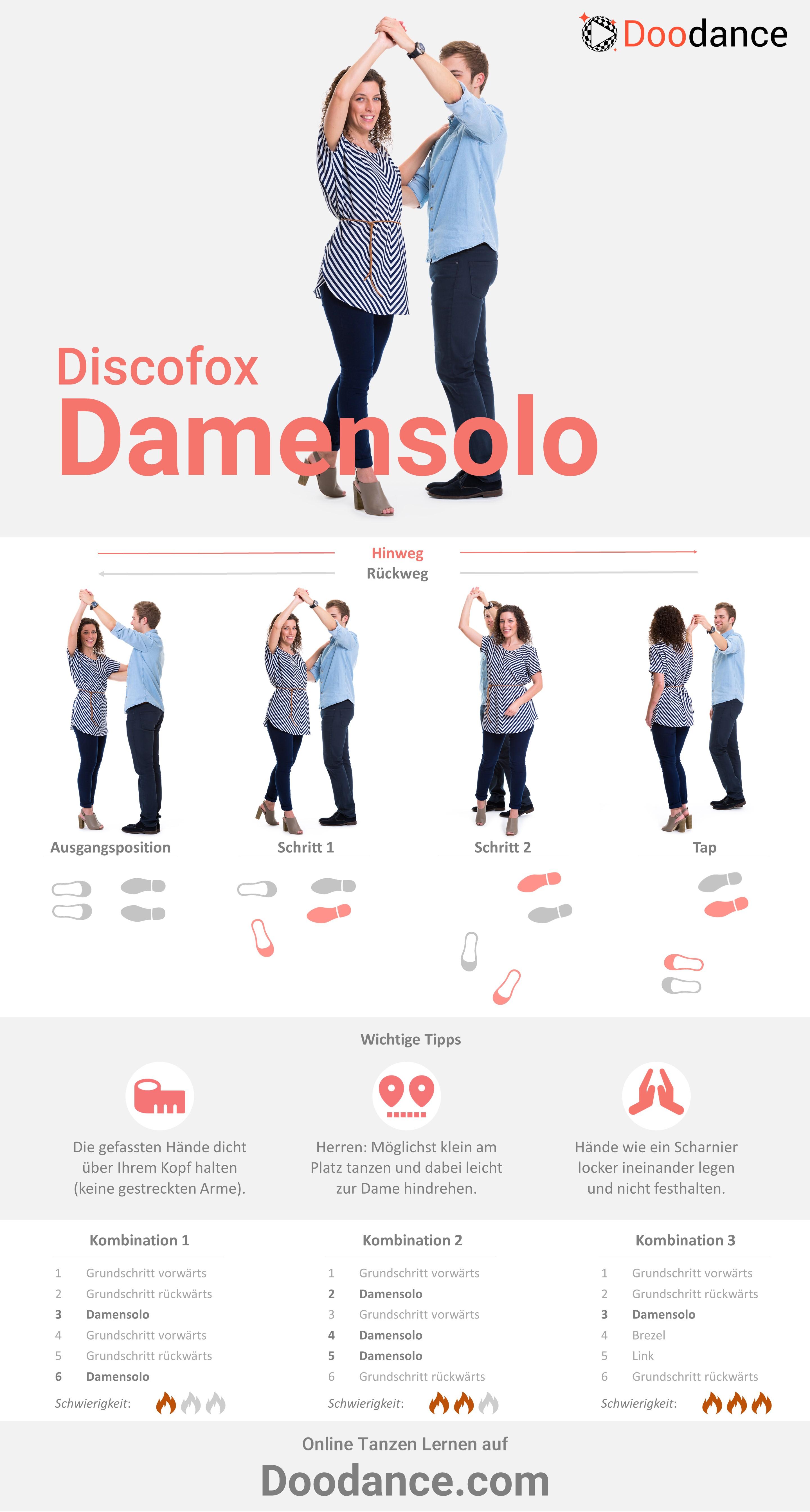Anleitung für das Discofox-Damensolo